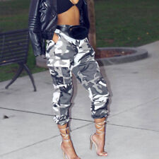 Ladies Women Camo Cargo Trousers Pants Military Army Combat Camouflage Jeans UK