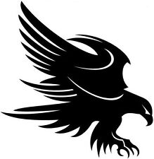 tribal hawk eagle attacking vinyl graphic car sticker bonnet side rear wall art