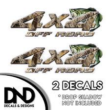 Duck Grass Camo Bass 4x4 Wraps Off Road Decals 2 Pk Sticker Ford truck - D&11BF