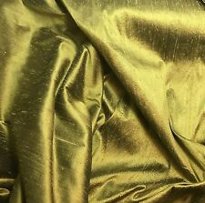 "Olive Green - Silk Dupioni Fabric 54"" -by the yard-"