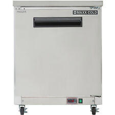"""Maxx Cold 27"""" W One 1 Solid Door Commercial Undercounter Stainless Steel Freezer"""