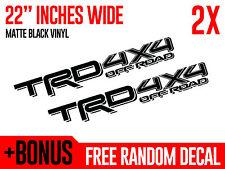(2x) TRD 4x4 OFF ROAD Black Matte Toyota Tacoma 2016 Vinyl Decals Stickers