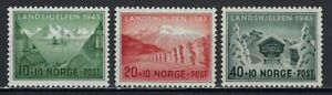 ES-14533 Norway 1943 German Occupation Winter Help Charity SCOTT B32-B34 MH F/VF