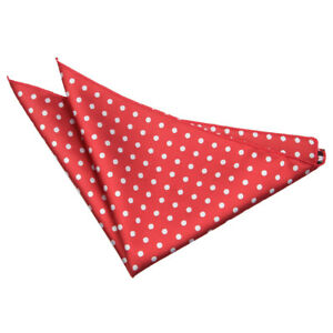 Luxury Woven Jaquard Formal Casual Polka Dot Pocket Square Hanky by DQT