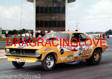 "Don ""Snake"" Prudhomme 1970 ""Hot Wheels"" Plymouth 'Cuda NITRO Funny Car PHOTO"