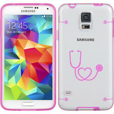For Samsung Galaxy S3 S4 S5 Clear Hard TPU Case Cover Heart Stethoscope Nurse