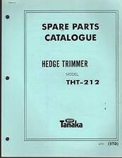 1988 & EARLIER TANAKA HEDGE TRIMMER MODEL THT-212 PARTS MANUAL