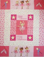 Pretty Pink Ballerina Quilt Top Panel by Fabri-Quilt PRICE REDUCED