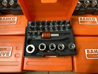 Bahco Bit Set Without Ratchet 2058 1/4 Drive Bit Holder And Sockets
