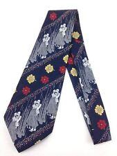 True Vintage Necktie Wide Neck Tie Kipper Art Deco Couple Dancing Navy Blue