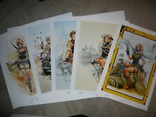 "2018 ECCC ASPEN LOLA ART PRINT SET OF 5 -ALL SIGNED BY SIYA OUM 13x19  #""D 12/30"