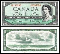 "1954 BANK OF CANADA QEII $1 **Beattie & Rasminsky** "" GEM UNC *"