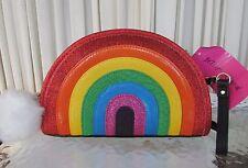 Betsey Johnson Kitsch Rainbow I Love Hue Crossbody Bag Purse Clutch NWT