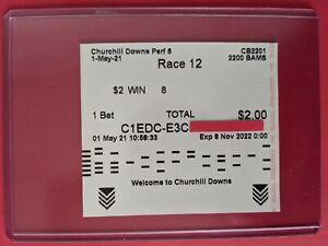Medina Spirit $2 WIN Ticket, PROGRAM, PIN, Result ticket 2021 Kentucky Derby!!!