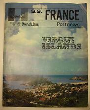 Compagnie transatlantique French lines S S France paquebot Virgin Islands 1969
