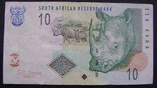 Zuid Afrika South Africa 10 Rand banknote rhinocéros