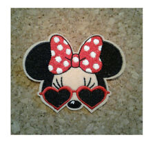 Minnie Mouse - Cool - Crusin - Retro Bow - Embroidered Iron On Applique Patch