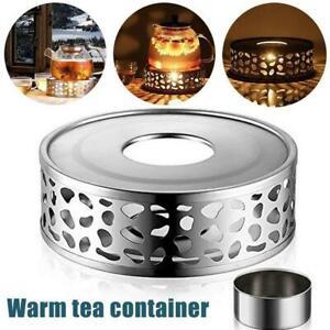 Steel Tea Teapot Holder Warmer Candle Round Base Heater Coffee Milk