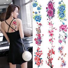 Sexy Women Waterproof Temporary Tattoo Stickers Rose Flowers Beauty Body Art 1X