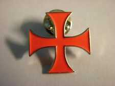 Knight Templar cross pin badge. Order of Templar Knights. Crusades. Red Cross