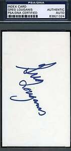Greg Louganis Signed Psa/dna 3x5 Index Card Authentic Autograph