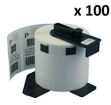 100 X DK11209 compatible (62x29mm) Blanco Etiquetas de dirección encaja hermano QL-570
