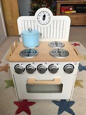 John Lewis Crema in Legno Mini cucina, forno, piano cottura fornello Childs Giocattolo Finto Gioco di Ruolo