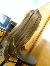 "Malky European Wig  27"" Multidirectional Wig Lightest Brown/ Blonde Sheitel 14-8"