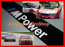 """53"""" M Power Windshield Sunstrip Decal Sticker BMW 1 M3 M4 M5 E30 E36 E46 E34 E39"""