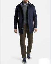 NWT! Peter Millar Wool Flex-Fleece Topcoat Jacket Navy Blue Size Large L $695