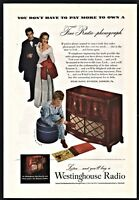 1947 WESTINGHOUSE Console Radio Phonograph Antique Vintage AD Thill Muray art