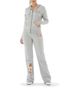 BCBG MAXAZRIA, Branded Printed Floral  Hoodie & Pant Set BC13681J/P D. Grey