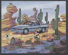DISNEY VOITURE TORTUE Maldives 1 bloc de 1985 **