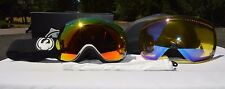 2015 NIB DRAGON APXS INVERSE/RED IONIZED GOGGLES EXTRA YELLOW BLUE LENS $200
