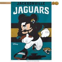"Jacksonville Jaguars NFL Mickey Mouse Football House Flag Licensed 28"" x 40"""