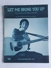 RON DANTE LET ME BRING YOU UP SHEET MUSIC JEFF BARRY ANDY KIM 1970 DON KIRSHNER