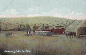 Harvesting Grain in the Far West USA 1907-15 Hugh C Leighton Co Postcard