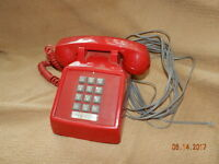 ITT Red Phone 183499-103 '86 Push Button
