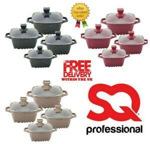 Sq Professional Marble Die Cast Square Cooking/Casserole Pot 4 Pcs Set