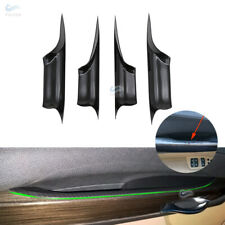 ABS Carbon Fiber Style Interior Door Handle Bowl Cover For BMW 7 F01 2009-2015