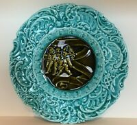 Antique German Schramberg, Villeroy & Boch Majolica Gnome Plate