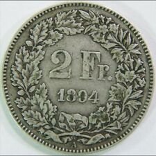 SUISSE SWITZERLAND 2 FRANCS 1894