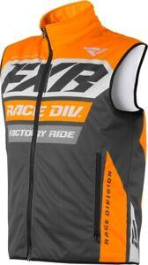 FXR RR Insulated Mens Snow Vest Charcoal/Orange/Gray