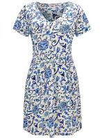 Joe Browns ladies blouse tunic top plus size 22 28 30 blue 'delightful' floral