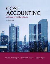 Cost Accounting by Madhav Rajan, Charles T. Horngren & Srikant M. Datar, 14th Ed