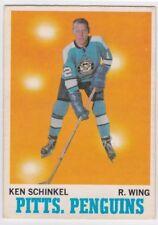 1970-71 O PEE CHEE HOCKEY KEN SCHINKEL #92 PENGUINS EX+ *61763