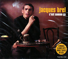 JACQUES BREL - C'EST COMME CA - 3 ORIGINAL ALBUMS+BONUS TRACKS (NEW SEALED 2CD)
