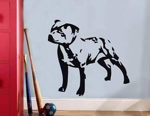 DOG STAFFORDSHIRE STAFF PITBULL Decal WALL STICKER Art Home Decor Stencil SST016