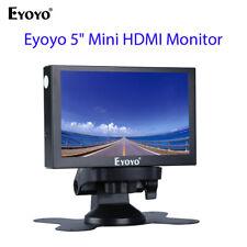 "Eyoyo 5"" Mini HDMI Monitor 800x480 HDMI VGA BNC Port for Car Security Industry"