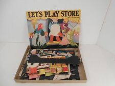 "FERN BISSEL PEAT ""LET`S PLAY STORE "" PUNCH OUT 1933 Cut Out Paper Dolls"